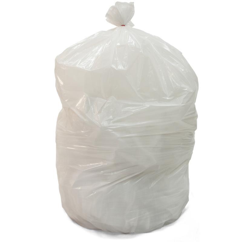 ถุงขยะ สีขาวขุ่น ขาวนม