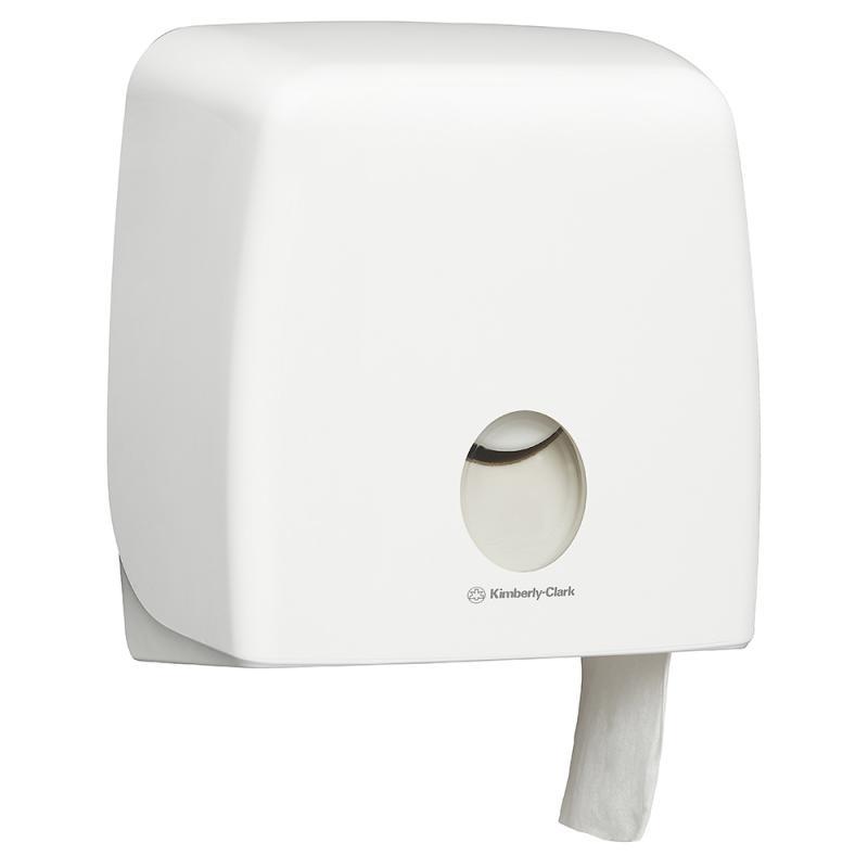กล่องใส่กระดาษชำระม้วนใหญ่ สีขาว Aquarius (Jumbo Roll Toilet Tissue White Dispener)